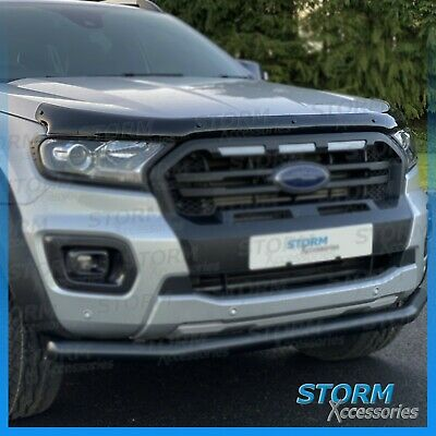 Bonnet Guard Protector - Hood Guard To Fit Ford Ranger T6 Wildtrak 2016-2019
