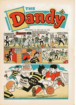 Dandy Comic # 1407 November 9th 1968 Korky The Cat Desperate Dan
