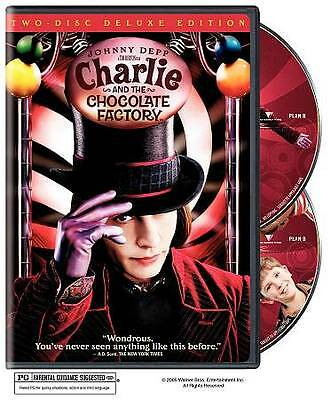 Charlie and the Chocolate Factory (DVD,2005,2-Disc)Mint,Johnny Depp,Same Day Shp