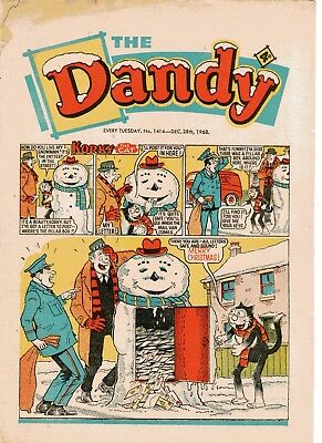 Dandy Comic # 1414 December 28th 1968 Christmas Issue