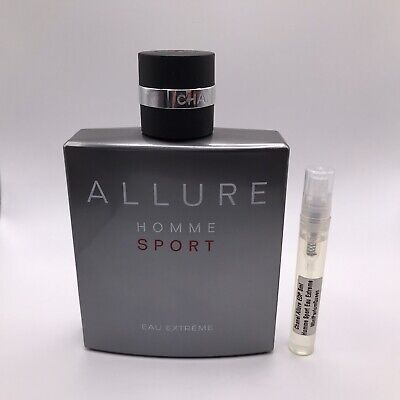 Chanel Allure Homme Sport Eau Extreme parfum sample 5ml (You get the 5ml sample)