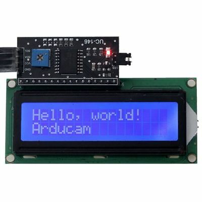 1X(1602 16x2 Serial HD44780 Character LCD Board Display with White on Blue T9Z5)