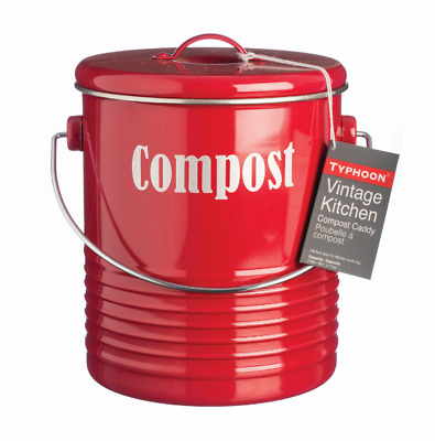 NEW Typhoon Vintage Kitchen Compost Kit 21x18cm in Red EXCEPTIONAL VALUE!