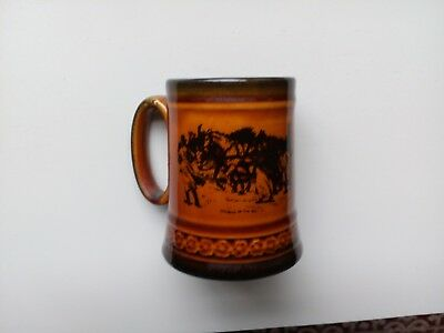 Ridgways Changing Horses and Walking up the Hill Brown Mug Tankard