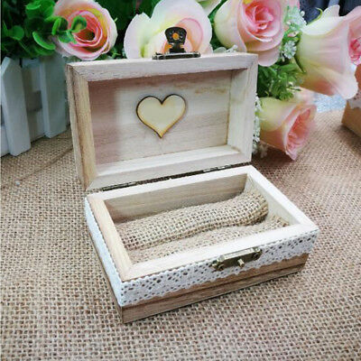 Vintage Style Wooden Ring Box Wedding Gift Custom Decorative Personalized