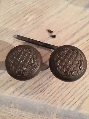 Antique Victorian Large Door Knob Set Of 2