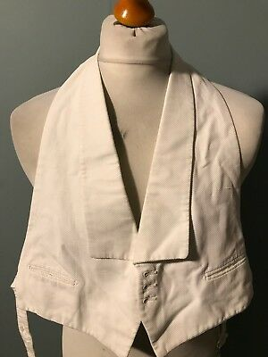 Vintage 1920's 1930's backed white tie evening waistcoat size 38 short