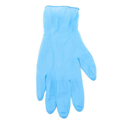 100 Pcs Blue Powder Free Long Disposable Nitrile Chemical Industrial Gloves CB