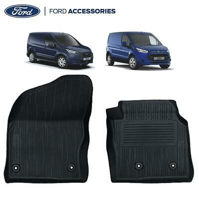 Genuine Ford Transit Connect Front Rubber Floor Mats Tray Style Black 2263239