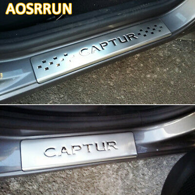 Stainless steel scuff plate Car-Styling Captur For Accessories Car