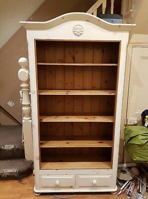 white pine bookcase, only a few marks but not really visible, strong wood :)