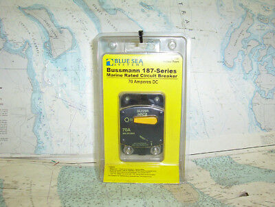 Boaters' Resale Shop of TX 1709 2171.07 BLUE SEA 7141 BUSSMAN 70 AMP DC  BREAKER