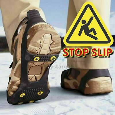 ❄️All Sizes Snow Anti Slip Ice Grippers for Boots & Shoes Grips Spikes Crampons