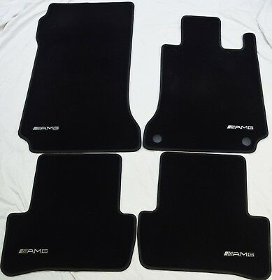 Genuine Amg Mercedes C Class 2007-2014 W204 Premium Carpet Mats Mat Set #849