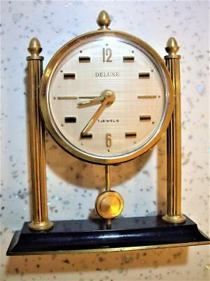VINTAGE NOVALTY PORTICO CLOCK good working order.