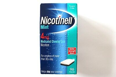 Nicotinell Mint 4mg Extra Strength Medicated Chewing Gum - 96 Pieces