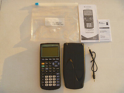 Texas Instruments Calculator TI-83 Plus Graphing w/Batteries/Cable, College READ