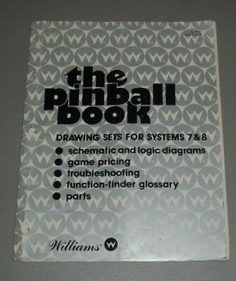 """William's Original """"The Pinball Book"""" Drawing Set For System 7 & 8"""