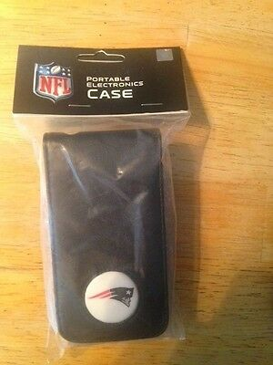 New England Patriots portable electronics case for mp3 players pda etc