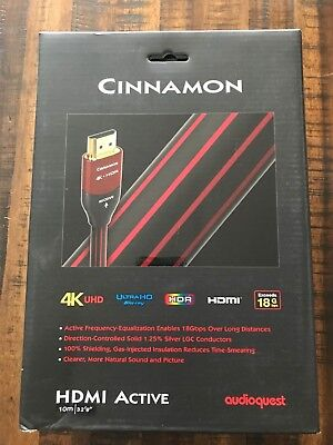 AudioQuest Cinnamon Active 4K HDR UHD HDMI Cable - 32.8 ft. (10m)