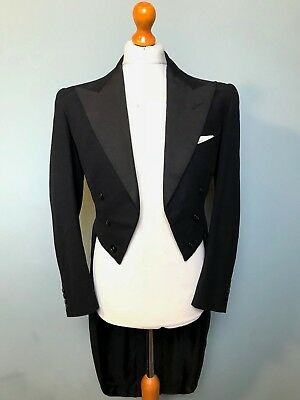 Vintage bespoke 1950's White Tie evening Tailcoat tails size 36