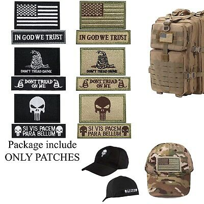 Military Backpack Patches USA Flag Caps Bags Tactical Vest Morale Uniform Patch