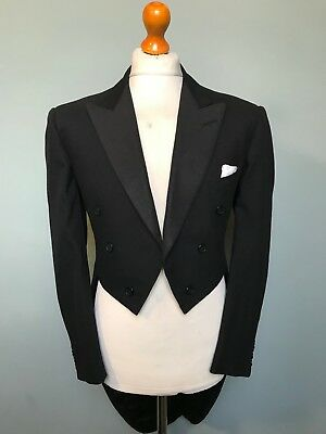 Vintage 1960's White Tie evening Tailcoat tails size 40 42