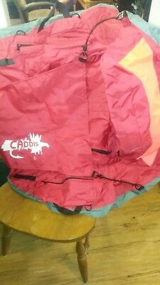 "Caddis Float Tube 16"", Nylon Gray/Red HIGHBACK  NEVER USED"
