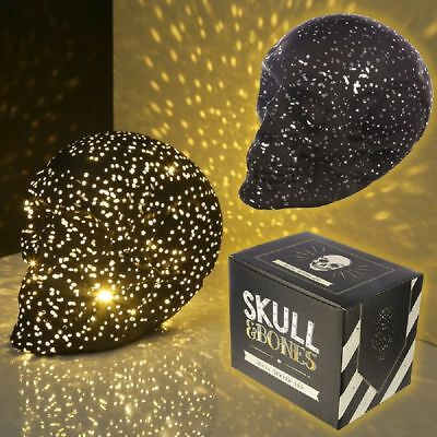 Black LED Light Skull, Ornament, Gothic, Lamp, Gift Box, Small Or Large, Battery