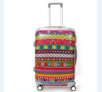 E620 Lock Universal Wheel ABS+PC Travel Suitcase Cabin Luggage 24 Inches W