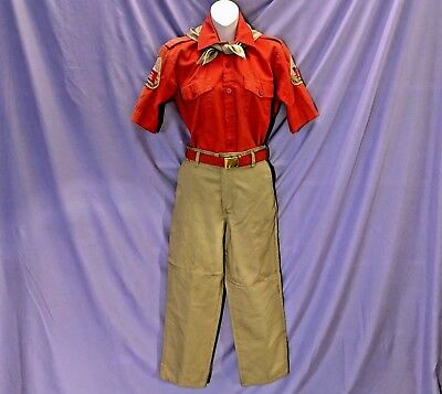 Knott's Berry Farm CAMP SNOOPY Full Employee UNIFORM Old Red Cast Member COSTUME
