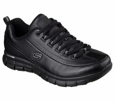 76550 Wide Width Black Skechers shoes Women Memory Foam Work Slip Resistant Soft
