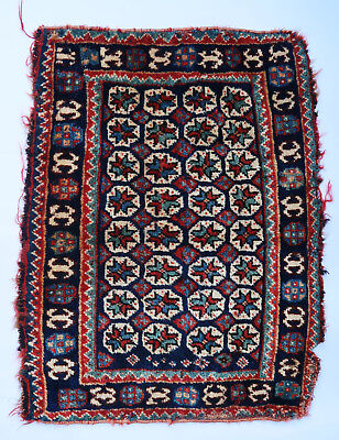 Tapis ancien rug oriental orient tribal ethnique Persan Perse Ghashghaï 1900