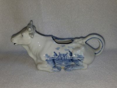 Blue and White Germany Cow Creamer