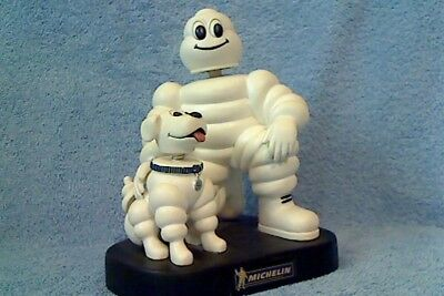 MICHELIN MAN and DOG BOBBLEHEAD - RARE LIMITED-EDITION COLLECTIBLE - NEW !