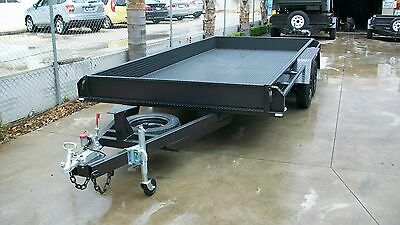 """16x6'6""""  Car Carrier Tandem Trailer with Tailgates"""