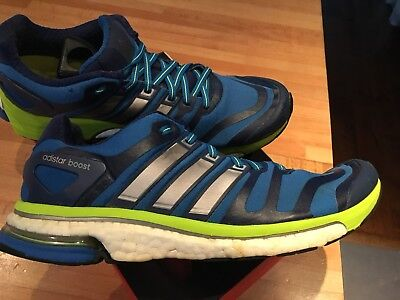 Adidas Mens adiStar Boost Running Shoes - Blue uk 9