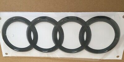 Black Gloss Rare Boot Badge Ring Logo Emblem Audi A4 A6 Q3 Q5 Q7 216*75 mm
