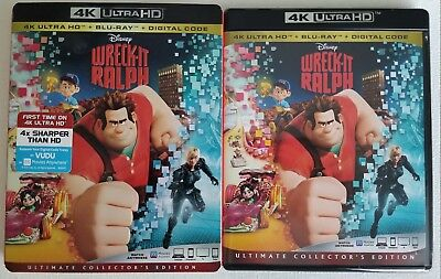 Disney's Wreck-It Ralph 4K Ultra Hd + Blu Ray With Slipcover Free World Shipping