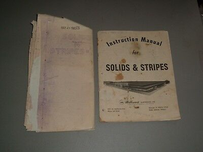 William's Solid's N Stripes Fold Out Schematic - Original