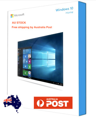 Official Windows 10 Home 64-Bit OEM DVD + Product Key Full Version For 1 PC