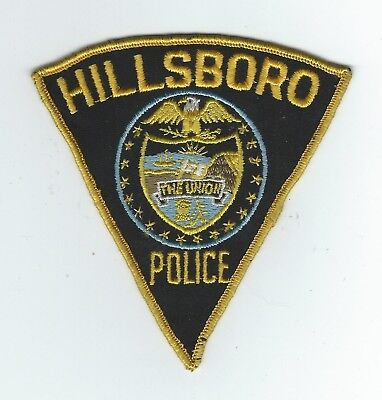 VINTAGE HILLSBORO, OREGON POLICE (CHEESE CLOTH BACK) patch