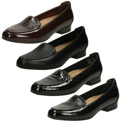 0604fc6e8b7 LADIES CLARKS KEESHA Luca Patent Leather Wide Fit Slip On Loafer ...