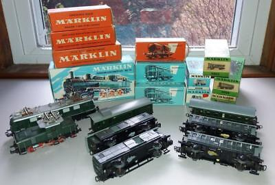 Large Lot of Assorted HO Scale MARKLIN Trains-Most in Original Boxes