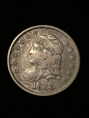 1833 Capped Bust half dime, lot 10c28