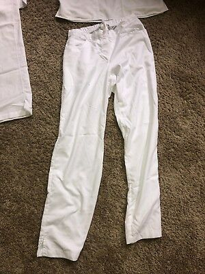 Women's White Scrub Bottoms Size Small (Pre Owned) (Grey's Anatomy)