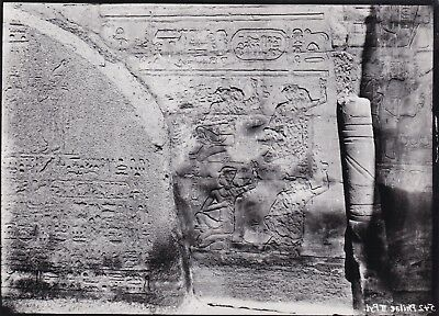 EGYPT OLD PHOTO. Temple of Phila during the disassembly and transportation lot 6