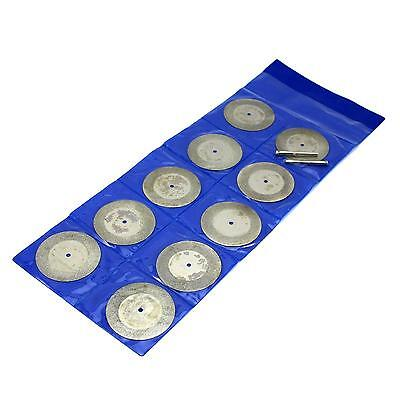50mm Applied Firm Circular Saw Blade Diamond Cutting Disc & Mandrel 10pcs