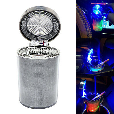 Portable LED Smokeless Airtight Cigarette Ashtray for Travel Car Home Office Use