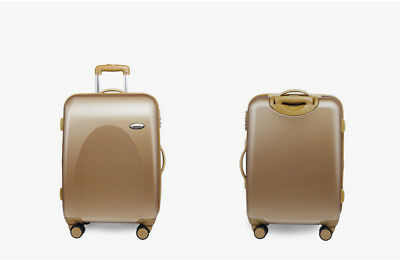 """E79 24"""" ABS PC Gold Password Lock Portable Case Trolley Travel Bag Suitcase S"""